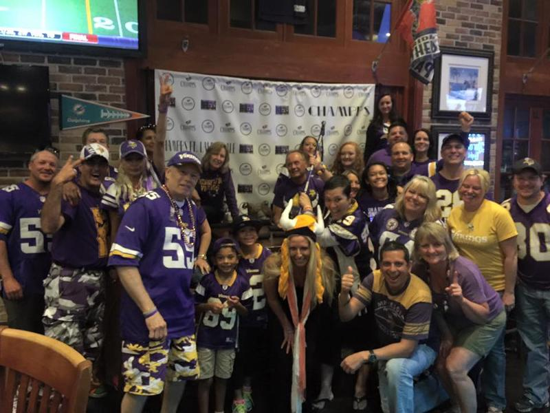 Champps is the spot for Fort Lauderdale Football. Especially for MN Vikings Fans