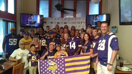 2016 - 2107 Vikings Season Opener Party at Champps in Florida