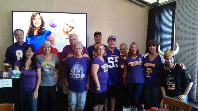 MN Vikings Fans Fragrance fundraiser for Margi Patton luxury fragrance event at champp's american south florida