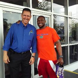 Jay Shapiro with Jabari Price in Fort Lauderdale,  Accardi Jeep Subaru