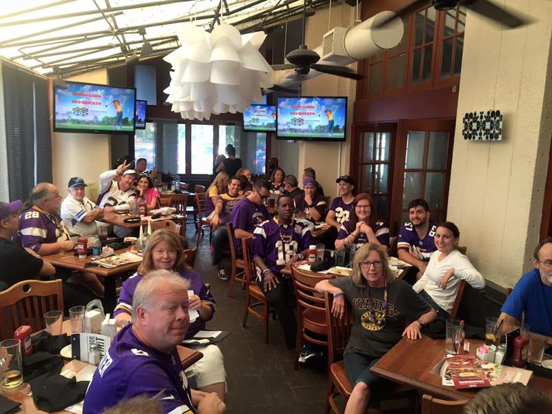 Minnesota Vikings Fans enjoying the Victory over the Detroit Lions 2015