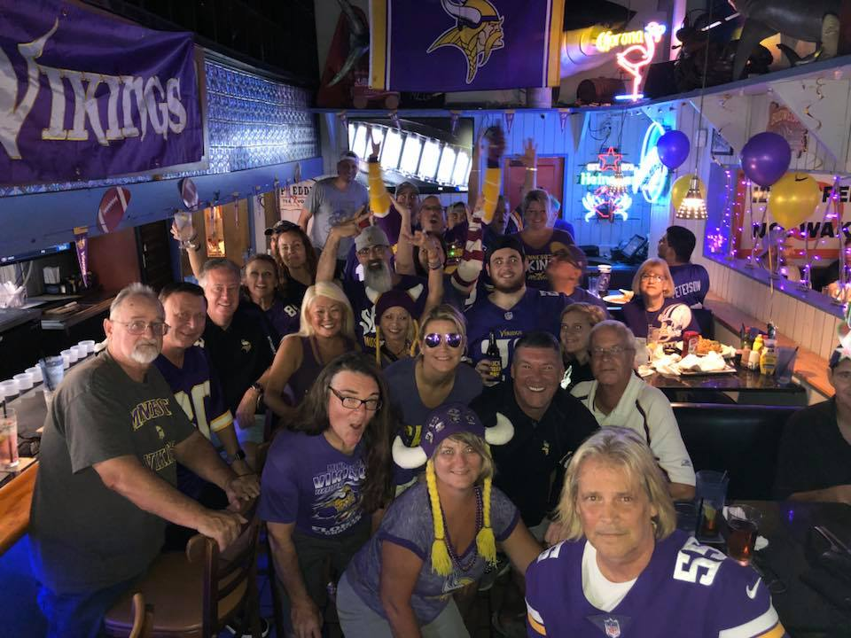 luis ray palomino, marissa cruz, jill kielly, roger craft - RC and the MIAMI VIKES at Historic Downtowner Saloon in Fort Lauderdale.  voted #1 MN Vikings Bar in the nation