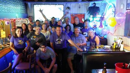 MN Vikings Fans at Historic Downtowner Saloon Ft Lauderdale 2017 Season