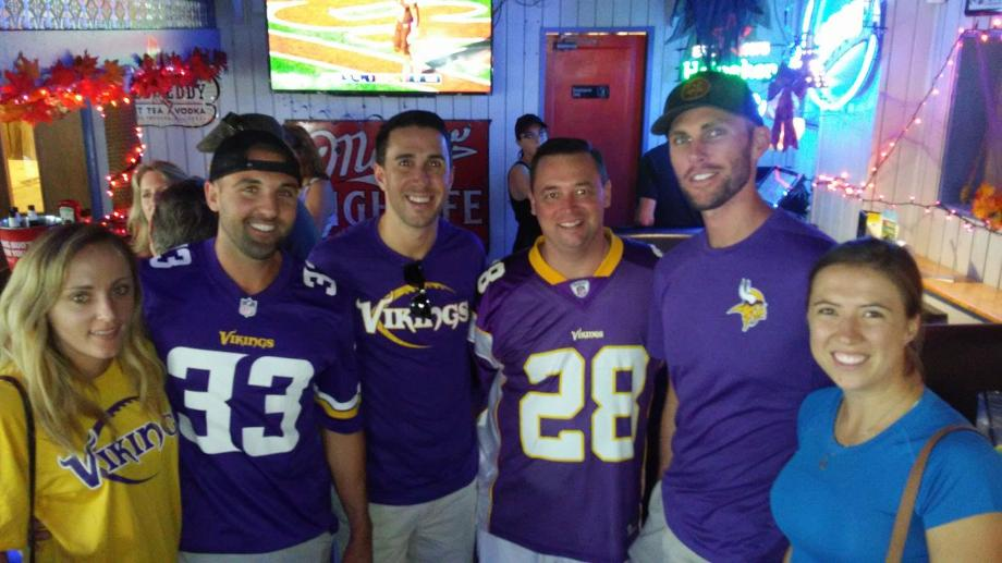 Vikings Fans at Historic Downtowner Salloon Fort Lauderdale October 2017